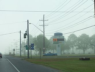 LaPlace, Louisiana - Junction of Louisiana Highway 3188, known as Belle Terre Boulevard at Airline Highway in Laplace