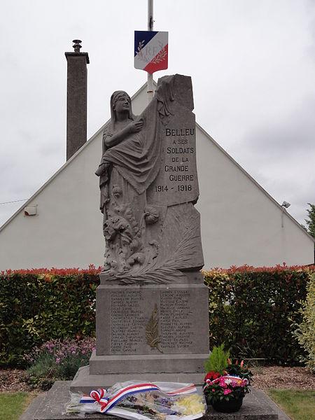 Belleu (Aisne) monument aux morts