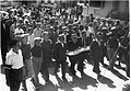 Ben-Gurion, Marminsky, Alexander Ziskind Rabinowitz & Remez leading the march to the cemetery for the year anniversary of Arlozorov's murder.jpg