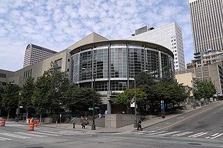 Benaroya Hall concert hall in Seattle, Washington, United States