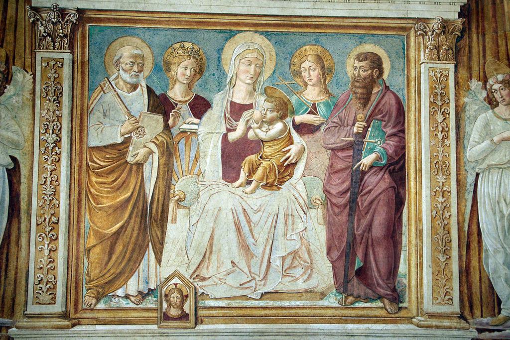 Benozzo gozzoli, Tabernacolo della madonna della tosse, 1484, 04