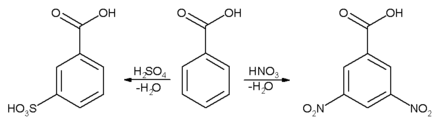benzoic acid aromatic ring reactions