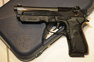 Beretta 90two - 9mm Beretta 90-Two with accessory rail cover attached
