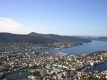 Una veduta di Bergen.