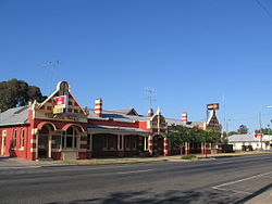 The Federal Hotel in Berrigan, one of a series of hotels built or renamed in the southern Riverina as a result of the Federation campaign
