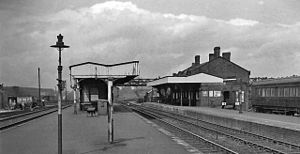 Bescot Stadium railway station - Bescot station in 1962