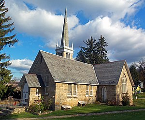 National Register of Historic Places listings in Sussex County, New Jersey - Image: Bethany Chapel, Hamburg, NJ