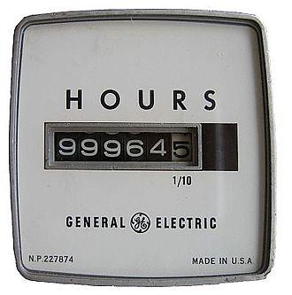 Hobbs meter - A Hobbs Meter made by General Electric about 1970