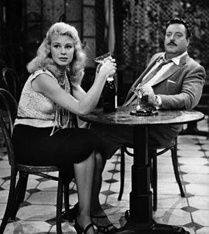 The Time of Your Life (Playhouse 90) - Betsy Palmer and Jackie Gleason in a scene from the play.
