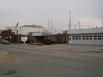 Bettendorf, Iowa - Bettendorf's city hall, police station, and one of its fire departments.