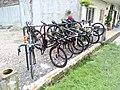 Bicycle parking in one of the restaurant in Batu Arang.jpg