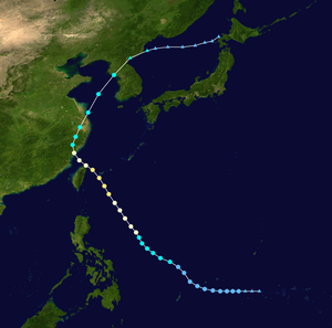 Typhoon Billie (1959) - Image: Billie 1959 track