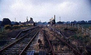 Binegar - Image: Binegar railway station in 1967