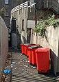 Bins in a Torquay alley - geograph.org.uk - 2568065.jpg