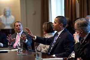 Bipartisan Congressional leadership meeting Fe...