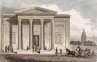Royal Birmingham Society of Artists - The original New Street home of the RBSA, illustrated in 1830