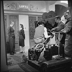 Muriel Pavlow - Pavlow on the set of Night Boat to Dublin in 1945