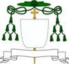 One form for the coat of arms of a Roman Catholic bishop.