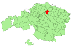 Location of Arrieta in Biscay.