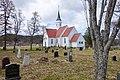 Bjarkøy kirke (church Sandsøya 1776 rebuild Bjarkøya 1886) springtime Bjarkøya Harstad Norway 2019-05-09 DSC00711.jpg