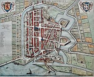Schoonhoven - Schoonhoven in 1652 by Joan Blaeu