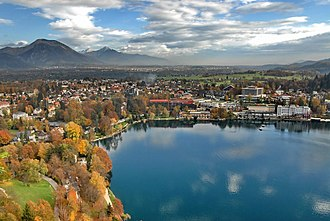 Bled - Lakeside, October 2006 view from the castle