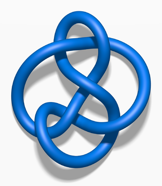 2-bridge knot - Image: Blue 6 3 Knot