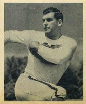 Bob Cifers - Cifers on a 1948 Bowman football card