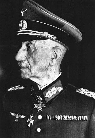 Eduard von Böhm-Ermolli - An octogenarian Böhm-Ermolli in the dress of a German Generalfeldmarschall