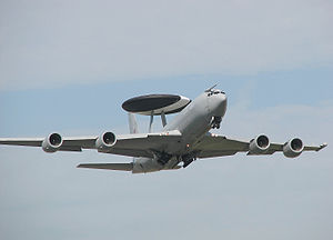Boeing E-3 Sentry - A Sentry AEW1 of the RAF takes off