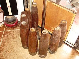 Kinmen - Artillery shells fired by the People's Liberation Army to Kinmen in the 1950s