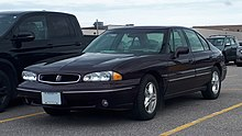 1996-1999 Pontiac Bonneville photographed in Sault Ste. Marie, Ontario, Canada