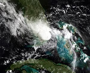 2010 Atlantic hurricane season - Image: Bonnie jul 23 2010 NOAA