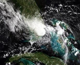 2010 Atlantic hurricane season - Image: Bonnie jul 23 2010 NOAA