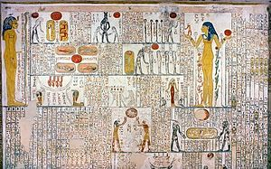 Book of Caverns - Fifth division: A scene from tomb of Ramses V./VI. (KV9, chamber E, right wall)