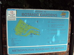 Botanic Gardens sign, Churchtown.JPG