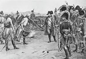 Battle of Ulm - Mack surrenders to Napoleon at Ulm by Paul-Émile Boutigny