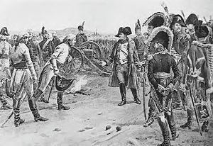 English: General Mack surrenders his army at U...