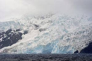 Bouvet Island - Glacier on Bouvet Island's west coast