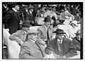 Boxer Jim Corbett (center) and Blossom Seeley (wife of Rube Marquard) to Corbett's left at Game One of the 1913 World Series at the Polo Grounds New York (baseball) LCCN2014694431.jpg