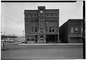Bozeman, Montana - Original 1890 City Hall, fire station, and Opera House-demolished in 1966