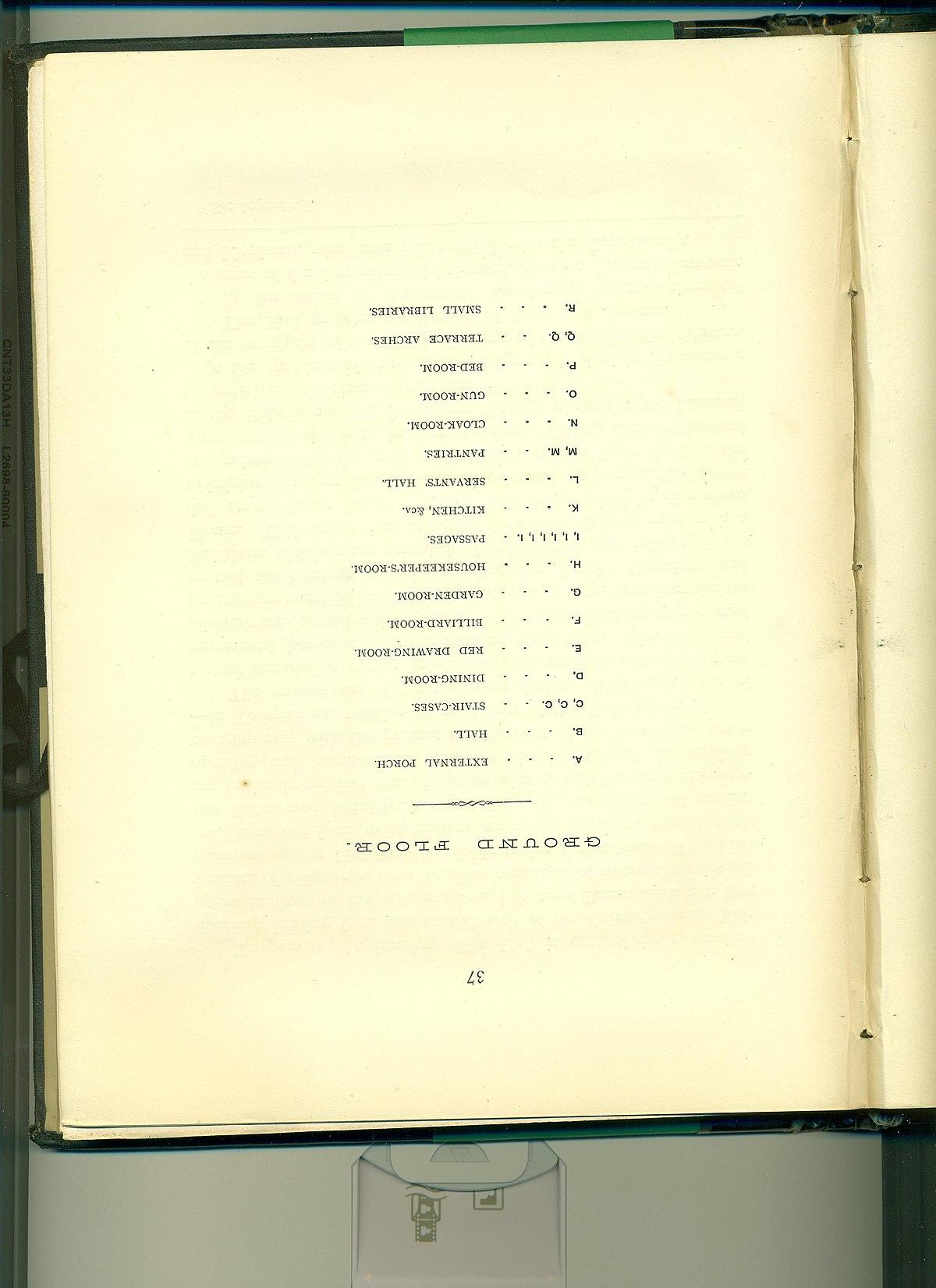 File Bramshill House Ground First Floor Plan 1883 Legend Jpg Wikimedia Commons