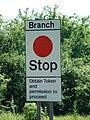 Branch Stop - geograph.org.uk - 327233.jpg