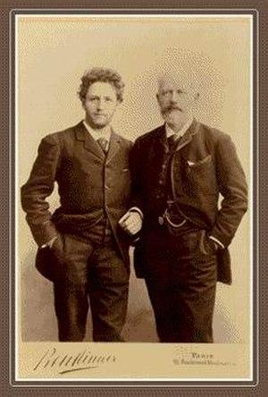 Anatoliy Brandukov - Brandukov and Tchaikovsky, in Paris, 1888