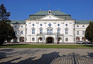 Government of Slovakia - The Summer Archbishop's Palace is the seat of the Government