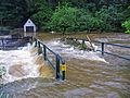 Braunaubach in Niederschrems - Hochwasser 2006-06-30.jpg