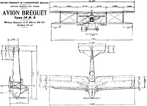 Breguet 14 - Breguet 14 B.2 drawing