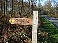 Bridleway fingerpost in Howardian Hills AONB - geograph.org.uk - 670000.jpg