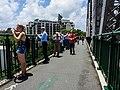 Brisbane River Town Reach flood spectators on Story Bridge Fortitude Valley P1090907.jpg