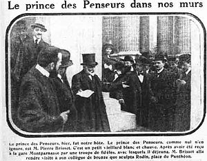 Jean-Pierre Brisset - The Prince of Thinkers welcomed and applauded in Paris.